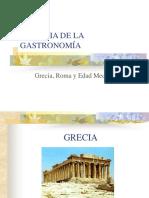 Historia de La Gastronomía(Griegos y Romanos)