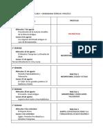 2019 Cronograma Teóricos y Prácticos