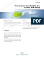 Cleaning & Disinfecting the System Hydraulics