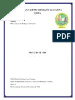 Proyecto de Vida Claudia Lemen 2019