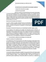 LA FORMULACIÓN DE POLÍTICAS DE LA EDUCACIÓN EN UN MUNDO COMPLEJO