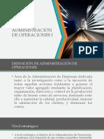 Administración de operaciones clases
