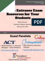 College Entrance Exam Resources