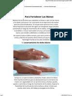 Ejercicios Para Fortalecer Manos _ Salud - Todo-Mail