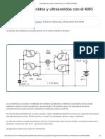 Generador de Sonidos y Ultrasonidos Con El 4093 (ART300S)