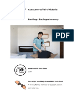 Easy English Factsheet Renting Ending a Tenancy PDF