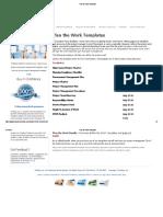 2.0 Plan the Work Templates