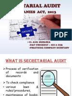 Secretarial Audit- Companies Act 2013 - CS Anil Murarka.pdf