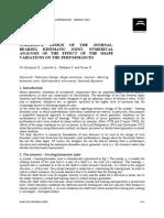 Tolerance Design of Journal Bearing Kinematics Joint