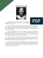 Francisca Reyes Aquino