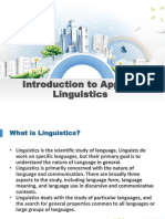 Introduction to Applied Linguistics Course 1