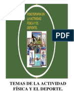 Temas de Fisioterapia de La Actividad Fisica y El Doporte