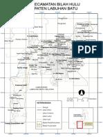 Peta Kecamatan Bilah Hulu