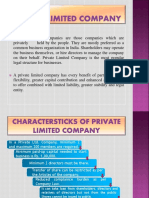 Advantage of Pvt Ltd Co