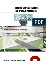 Sources of Short Term Financing Ppt
