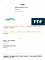 Charge 12v Battery With Solar Panel _ Green Solar