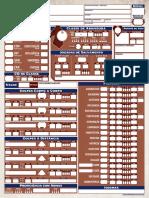 Ficha de Personagem Pathfinder Segunda Edição