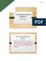 General Conduction Equation - Spherical Coordinates