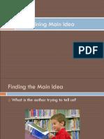 Finding the Main Idea-1