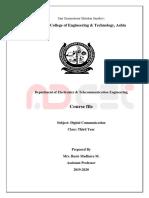 Course File Front Pages Dcom