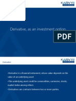 Derivative as an Investment Option KARVY