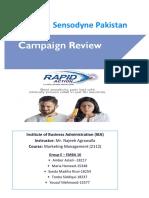 Sensodyne Compaign Review, Group E