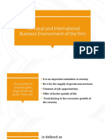 Local and International Business Environment