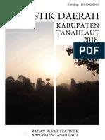 Statistik Daerah Kabupaten Tanah Laut 2018