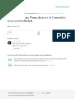 LA VIVIENDA RURAL VENEZOLANA EN LA DIMENSIÓN DE LA SOSTENIBILIDAD