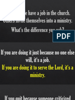 Job or Ministry