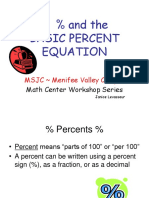 percent equation
