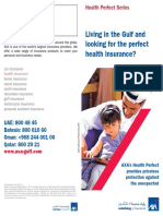 AXA Insurance Leaflet