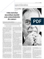 G060212 Entrevista a Vargas Llosa, Mis Novelas Mienten Con Conocimiento de Causa 1