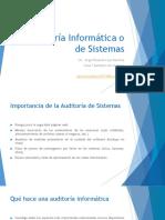 1 Auditoría Informática o de Sistemas