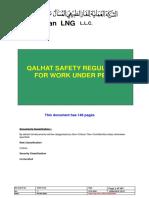 QHSE-P221 Qalhat Safety Regulation for Work Under Permit (Permit to Work) Oman LNG