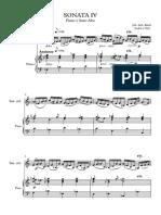 Sonata IV - Bach Partitura Completa
