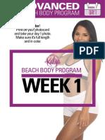 Advanced Gym Beach Body Week 1
