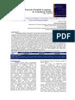 Assessing the Quality of Persian Translation of Kite Runner based on House's (2014) Functional Pragmatic Model