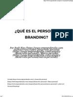 Qué Es El Personal Branding