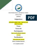 Tarea No. II Seminario de Ciencias Sociales. (2)