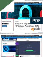 BloquearPáginas_ Web(URls) Con Avast Free
