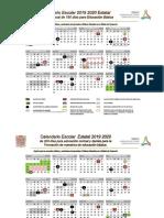 Calendario Escolar Estatal 2019 2020 Campeche