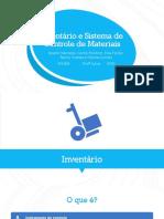 Inventário e Sistema de Controle de Materiais PRONTO
