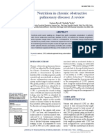 [Journal of Translational Internal Medicine] Nutrition in Chronic Obstructive Pulmonary Disease a Review