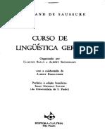 SAUSSURE (1916) Curso de Linguística Geral