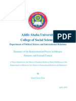 Democratisation Process in Ethiopia's . Thesis