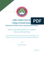 Democratisation Process in Ethiopia's . Thesis