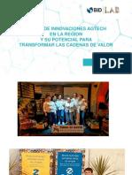 Mapeo de innovaciones Agtech en la región y su potencial de transformar las cadenas de valor