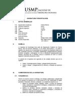 Silabo Parasitologia 2019