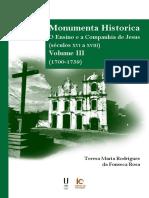 Monumenta Historica O Ensino e a Companhia de Jesus (Secu(1700-1759) - Teresa Maria Rodrigues Da Fonseca Rosa (Org.)_final